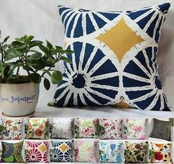 TangDepot 100% Cotton Floral/Flower Throw Pillow Covers/Hand
