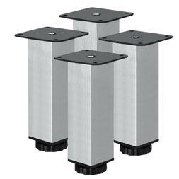 4x adjustable stainless steel cabinet cupboard table
