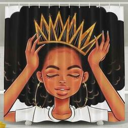 SARA NELL African American Women Girl with Crown Shower Curt