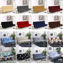 Armless Sofa Bed Cover Stretch Slipcover Settee Folding Couc