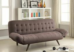 company brown linen like sofa bed 75