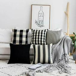 Home Brilliant Decorative Pillows Covers Set Black and White