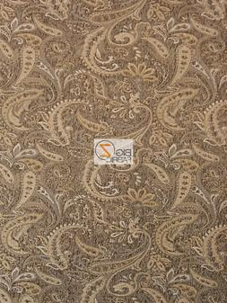 DRAGON PAISLEY DRAPERY UPHOLSTERY FABRIC - Desert - BY THE Y