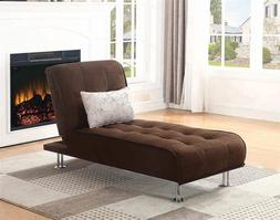 Ellwood Chaise Sofa Bed Brown Sleek Silhouette And Contempor