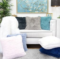 """Homey Cozy Fur Throw Pillow Cover Large Cushion Case 20x20"""""""