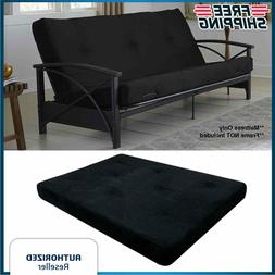 Futon Mattress Guest Spare Room Sofa Bed Full Size Couch Sle