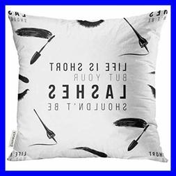 Golee Throw Pillow Cover Makeup Artist W Life Is Short But Y