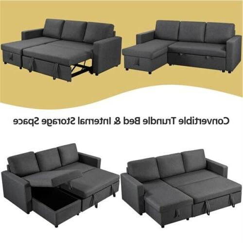 4-seat Convertible Sectional Sofa Limite Gray