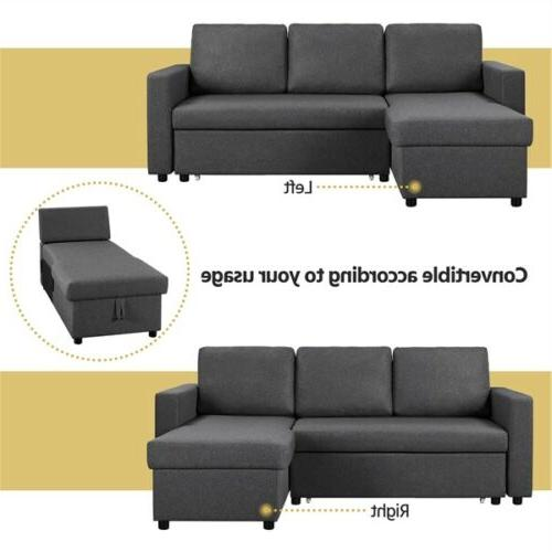 4-seat Convertible Sectional Reversible Sofa Limite Spaces