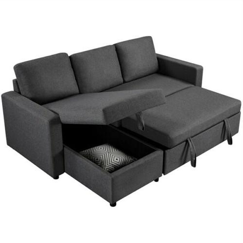 4 seat convertible sectional reversible sofa couch