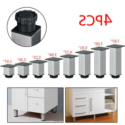 4x Stainless Cabinet Sofa Bed Furniture Leg