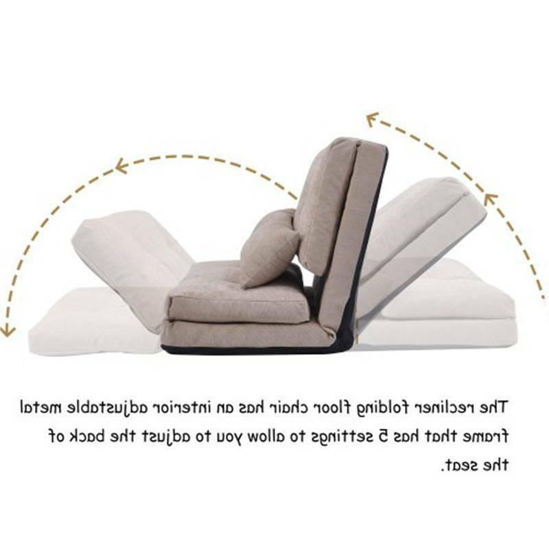Beige Bed Folding Sofa Sofa with Pillows