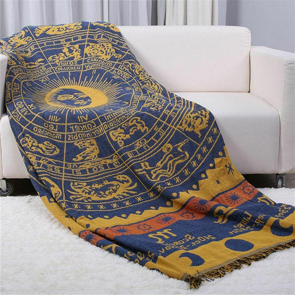 Bohemian Knitted Decorative Sofa Blanket Thread For Beds