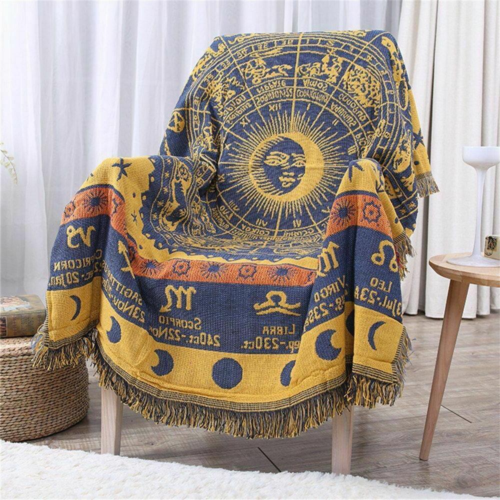 Bohemian Cotton Sofa Blanket For Beds