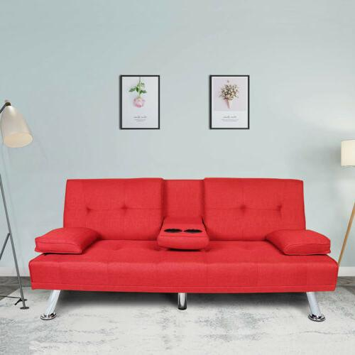 convertible futon sofa couch bed sleeper w