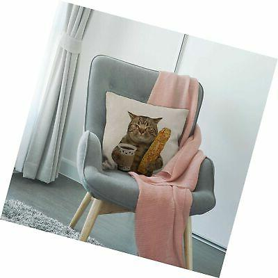 HGOD Funny Throw Pillow Cover,The is Cup of C...
