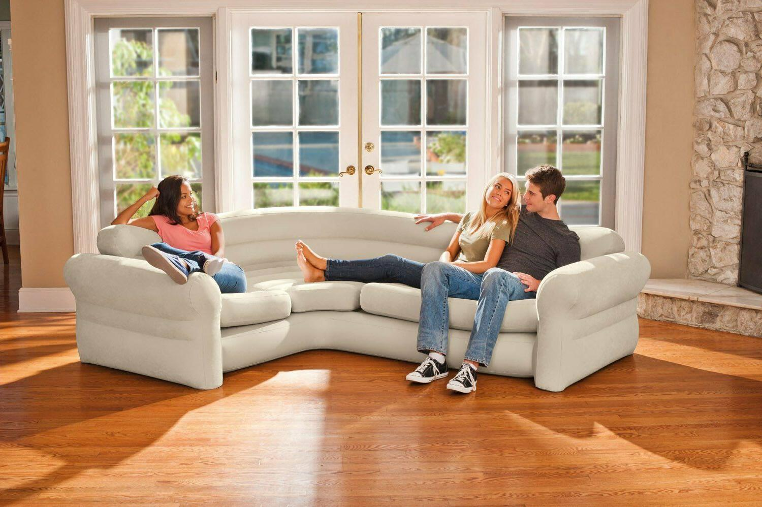 Inflatable Corner Sofa Couch Sectional Sleeper Living Room F