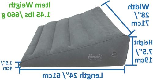 Heavy Duty Wedge Pillow with Velour Surface for T