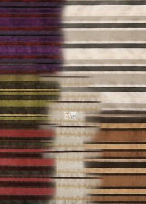 MARRIOTT BENGAL STRIPES UPHOLSTERY FABRIC - 6 COLORS - BY TH