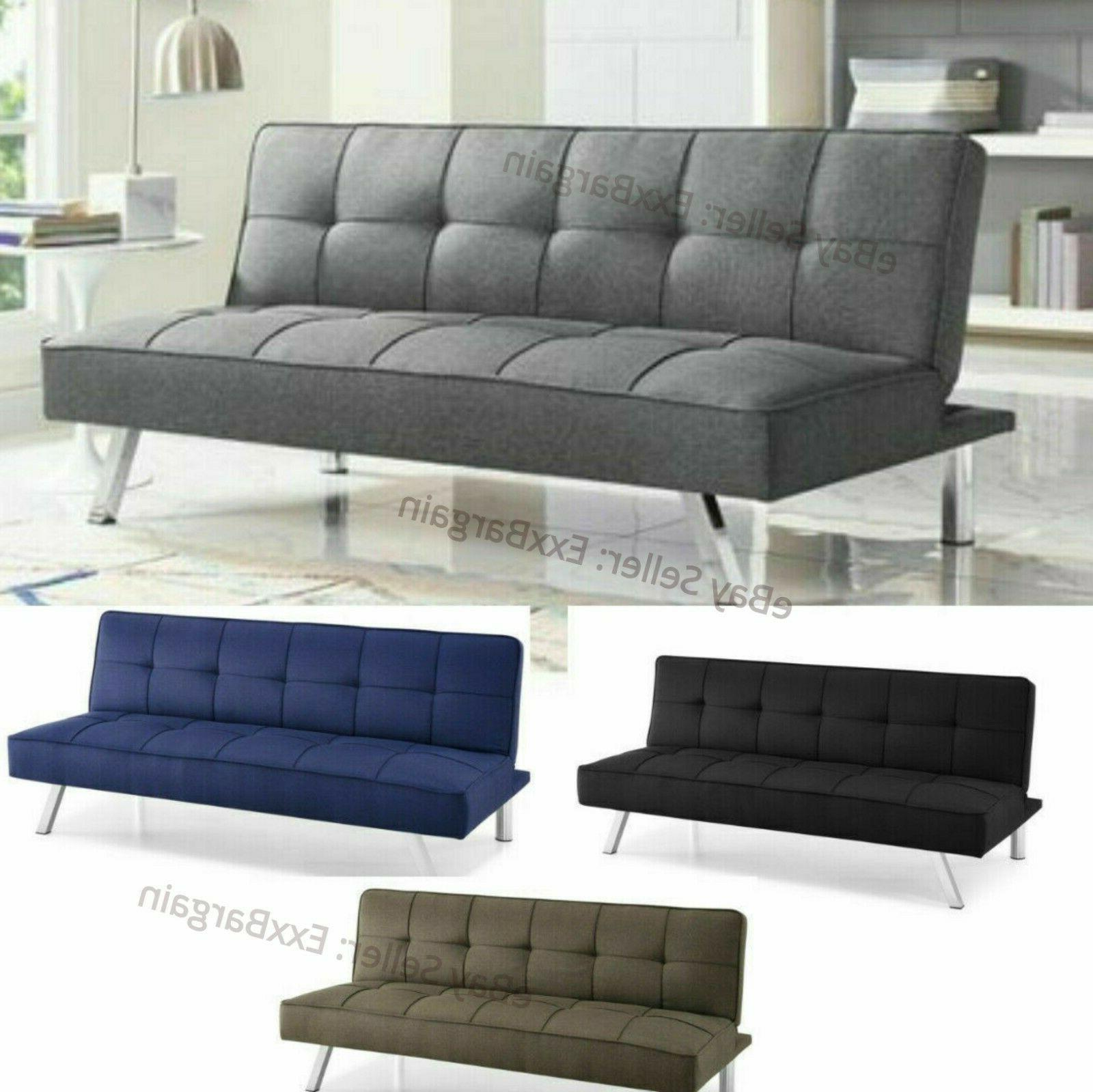 modern futon sofa couch bed sleeper convertible