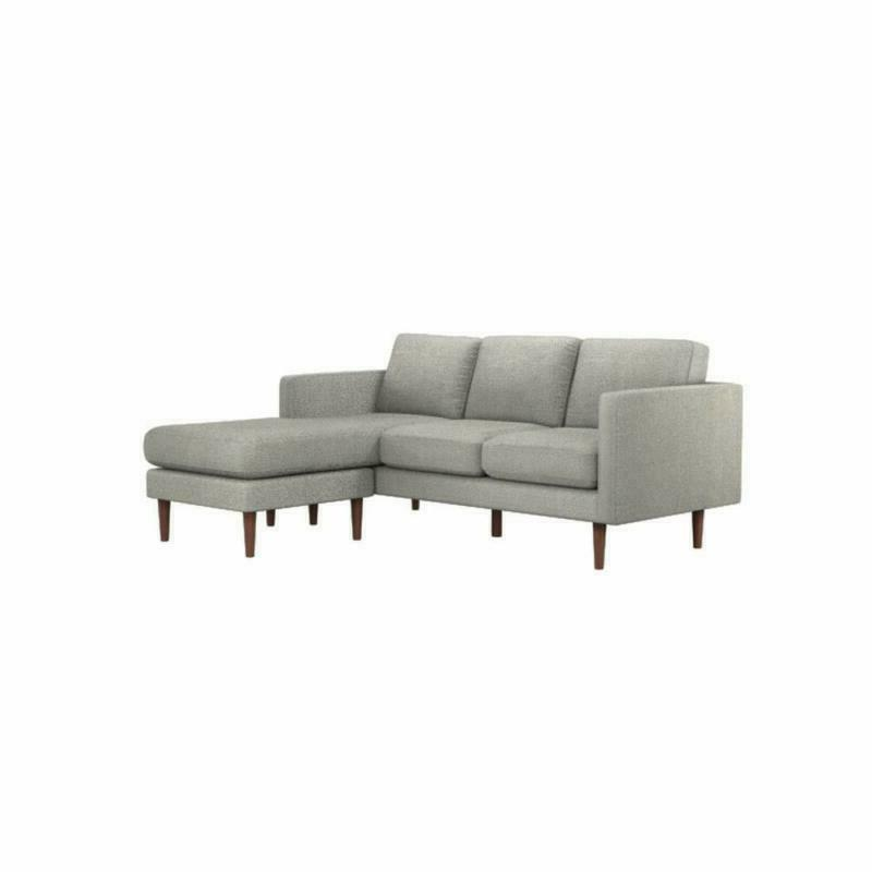 """Rivet Reversible Sectional Sofa Couch, 80""""W, G"""