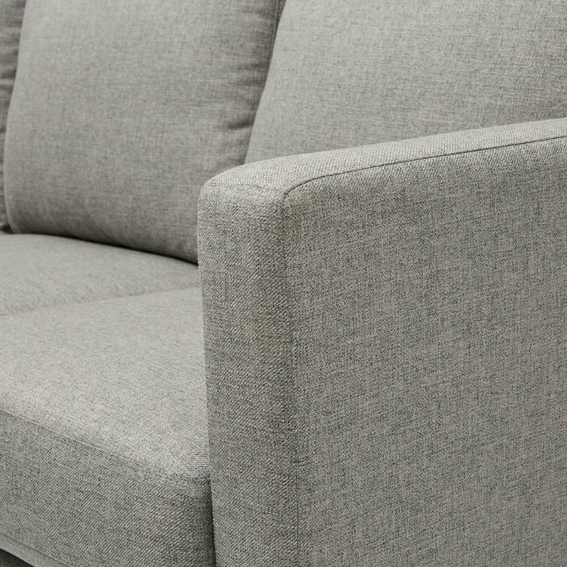 """Rivet Mid-Century Reversible Chaise Sectional Sofa Couch, 80""""W,"""