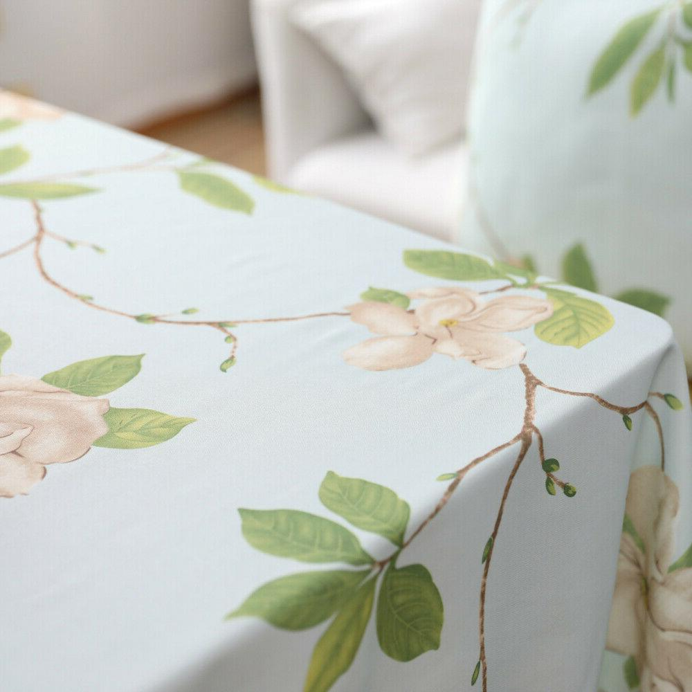 Sofa Flower Cushion Covers Kitchen Waterproof Tablecloth Home Decor
