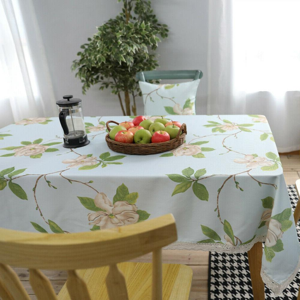 Sofa Flower Covers Kitchen Waterproof Tablecloth Home Decor
