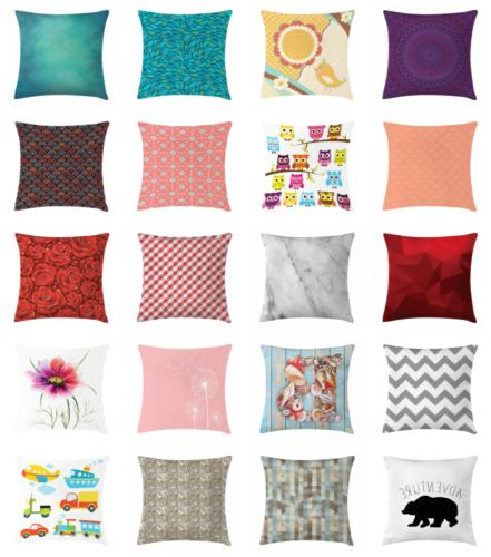 Throw Pillow Case Cushion Couch Bed with Zipper