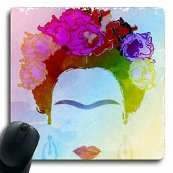 Ahawoso Mousepads for Computers Makeup Watercolor Abstract F