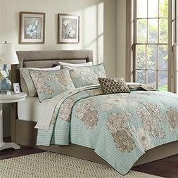 Madison Park MPE13-187 Essentials Avalon Completed Coverlet