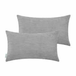 CaliTime Pack of 2 Cozy Bolster Pillow Covers Cases for Couc