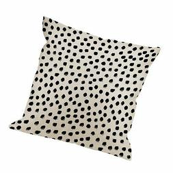 HGOD DESIGNS Polka Dots Decorative Throw Pillow Cover Case,B