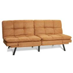 SLEEPER SOFA BED Suede Convertible Couch Modern Living Room