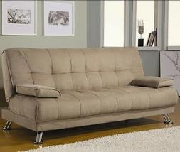 SOFA BEDS FABRIC CONVERTIBLE SOFA BED WITH REMOVABLE ARMREST