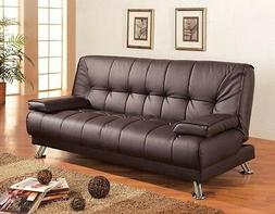 SOFA BEDS FAUX LEATHER CONVERTIBLE SOFA BED WITH REMOVABLE A