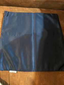 """TangDepot solid HIQ silky pillow cover 12""""x12"""" navy blue"""