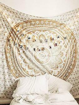 Popular Handicrafts Th553 Original Gold Ombre Tapestry India