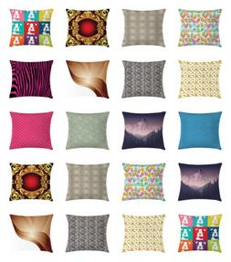 Ambesonne Throw Pillow Bed Decor with Zipper Case with Cushi