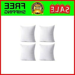 Throw Pillow Inserts, 4 Packs 18 x 18 inches