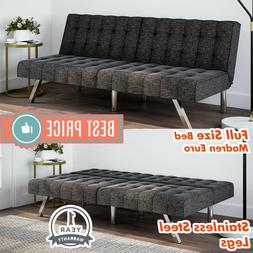 Tufted Convertible FUTON SOFA BED Full Size Sleeper COUCH Gr